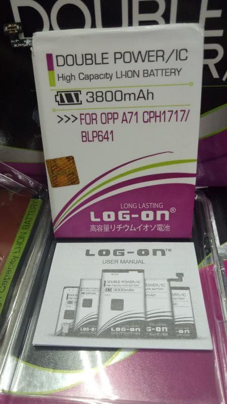 Baterai Log On Oppo A71 CPH1717 BLP641