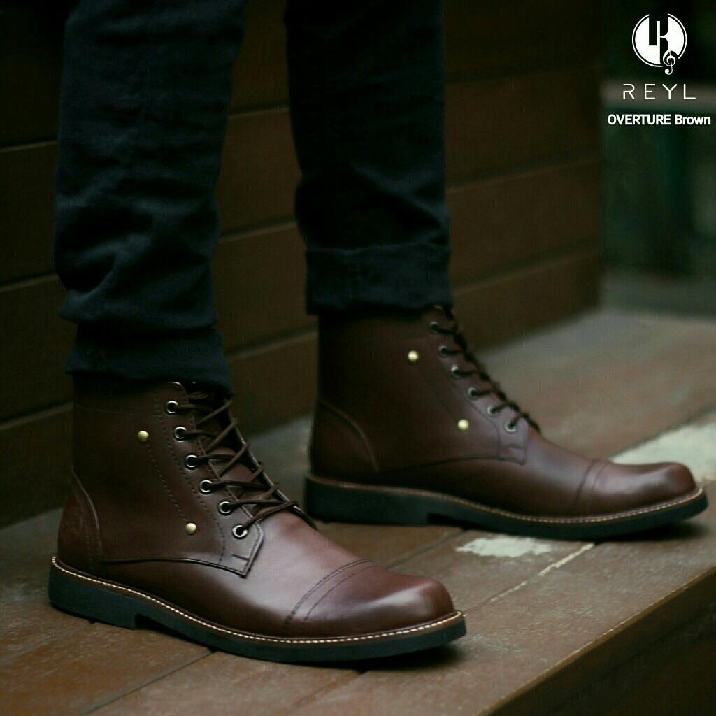 Sepatu Pria Original Reyl Safety Boots Kulit Asli Proyek lapangan kerja  kantor 8113c04b2d