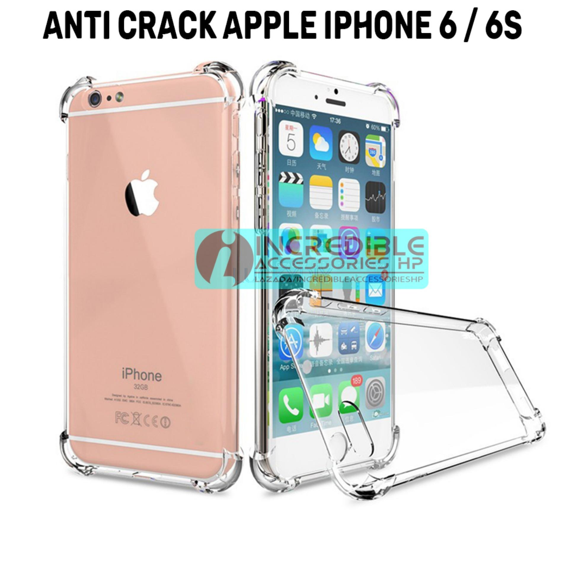 Case Anti Shock / Anti Crack Elegant Softcase  for Apple iPhone 6 / 6s / 6G - White Clear