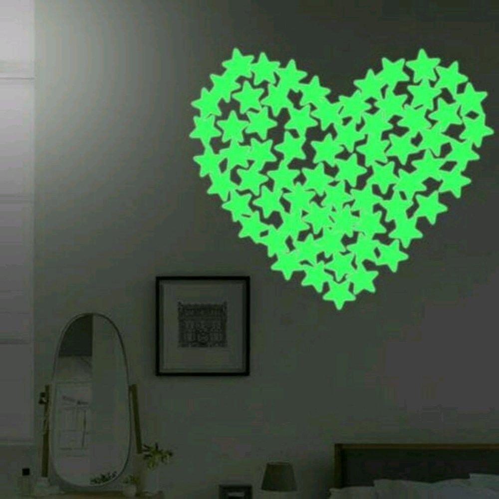 Buy Sell Cheapest Isi 100pcs Biji Best Quality Product Deals Polokyo Asli Import Pelangsing Herbal Sticker Fosfor Glow In The Dark Little Star 100 Motif Bintang Dekorasi Interior Kamar