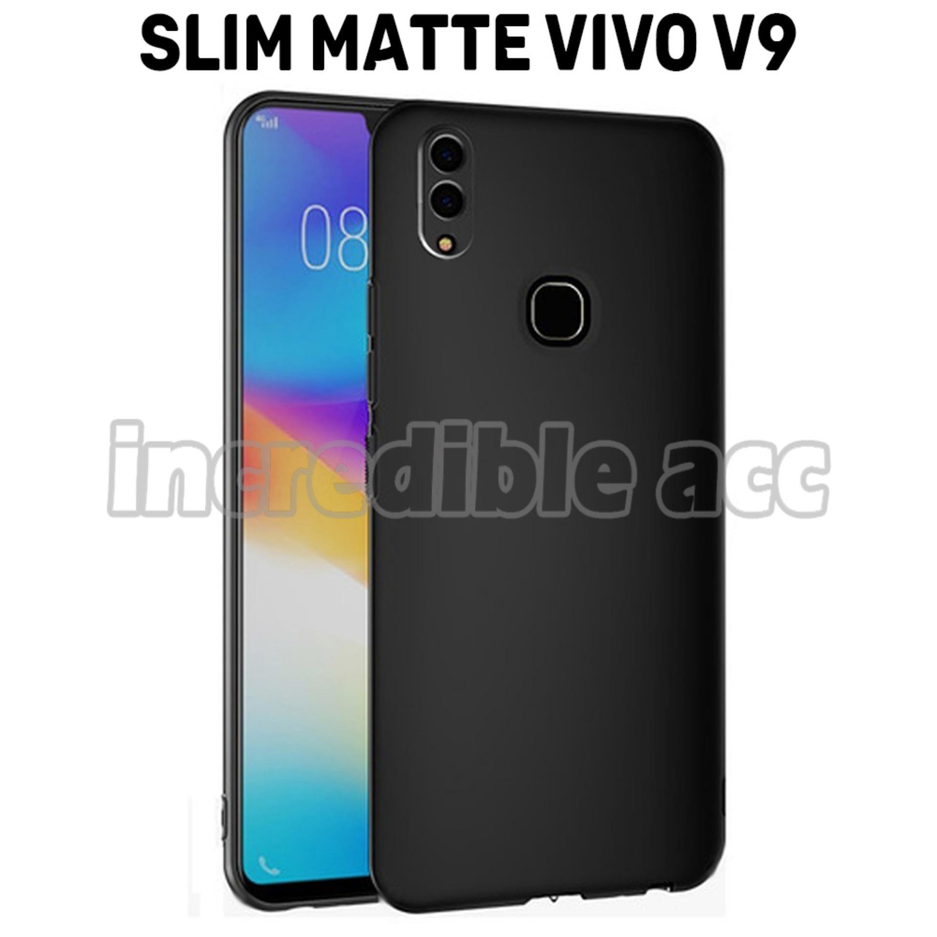 Vivo V9 Softcase Baby Skin Slim Matte Premium Black Matte - Hitam