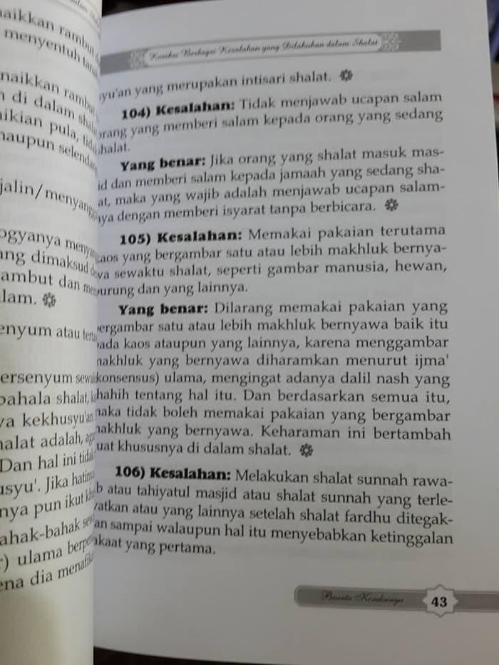 Buku 221 Kesalahan Dalam Shalat Beserta Koreksinya Daru