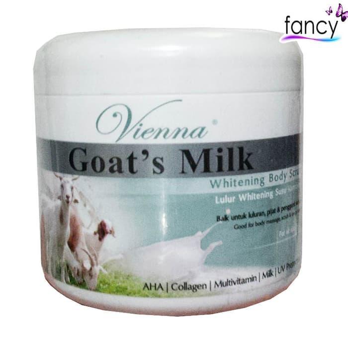 Vienna Whitening Body Scrub Goats Milk 250gr By Fancy