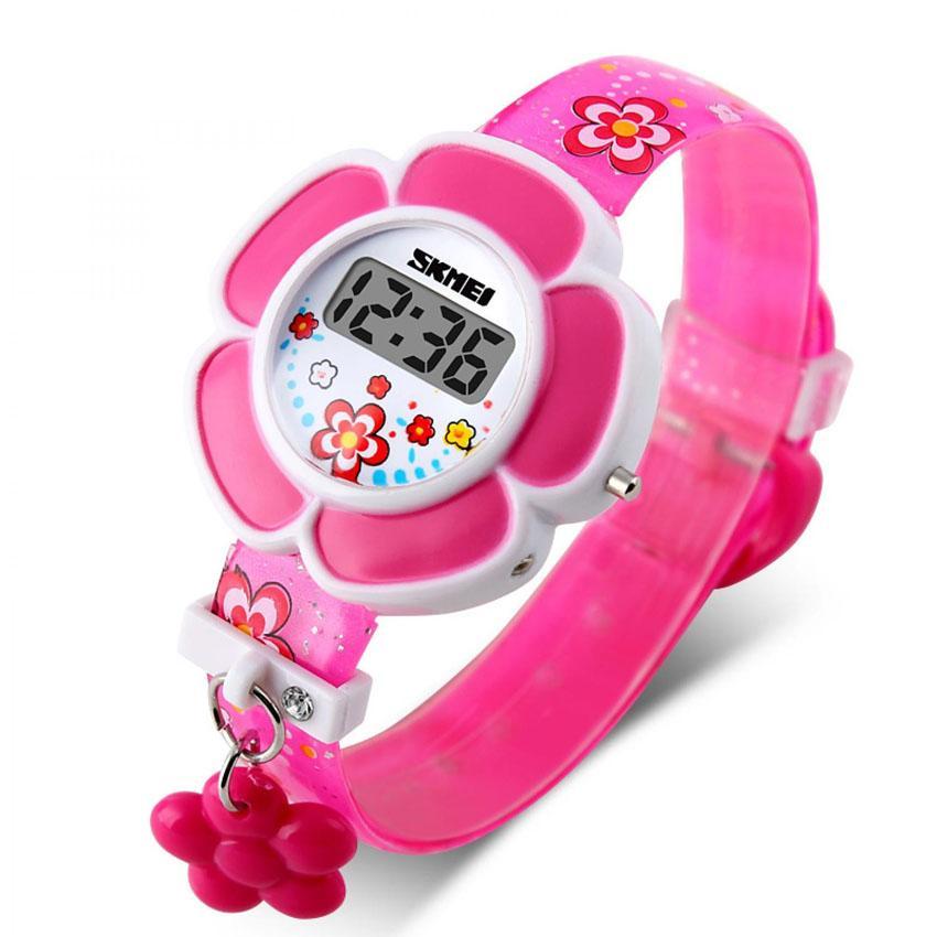 Skmei Jam Tangan Anak Perempuan Digital Children Fashion Rose Digital Watch DG1144