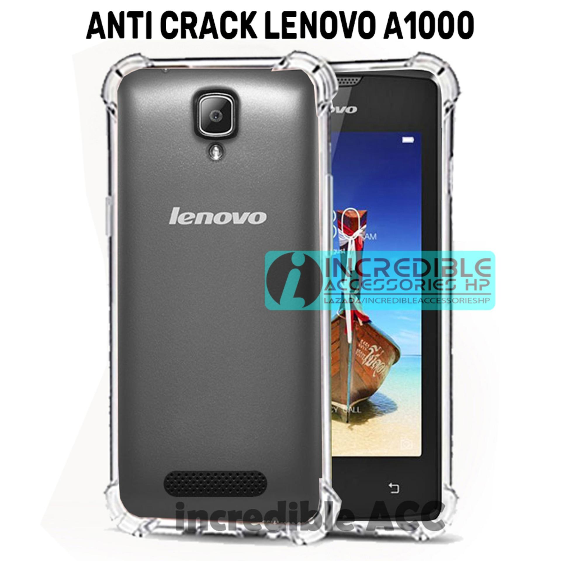 Case Anti Shock / Anti Crack Elegant Softcase  for Lenovo A1000 / A2800 - White Clear