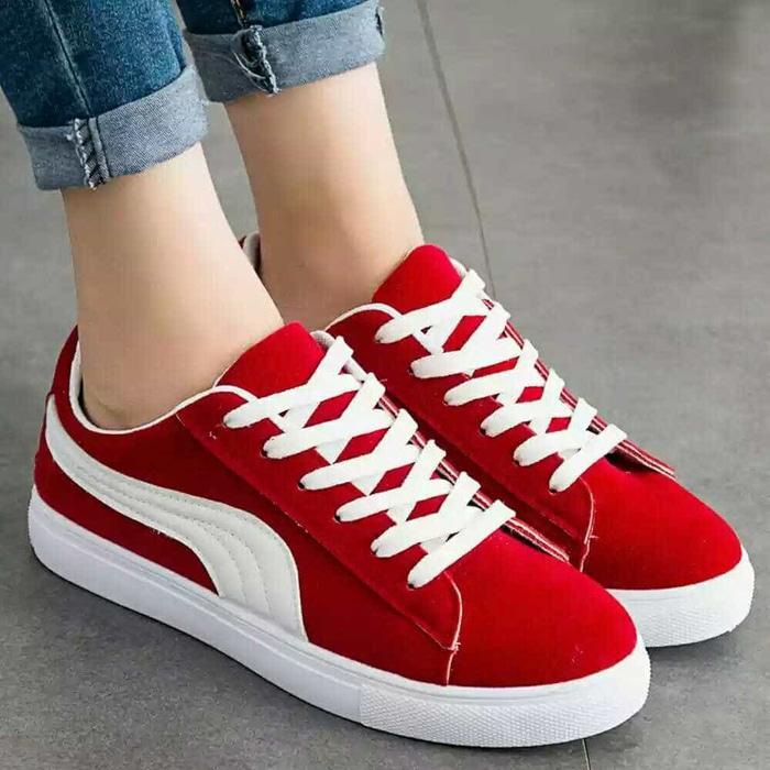 Sepatu Murah Sepatu Wanita Sepatu Casual Sepatu Kets Puma New Merah