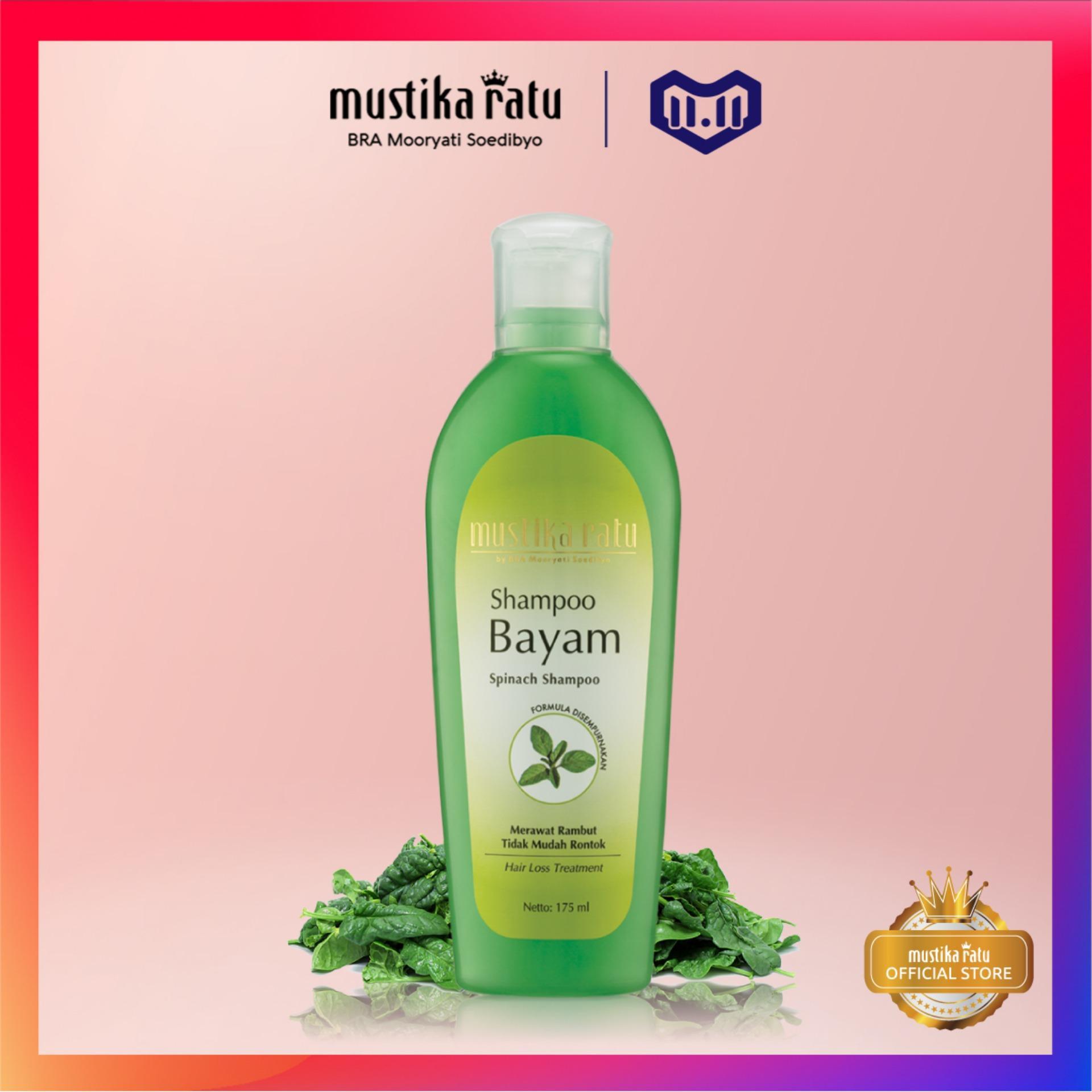Mustika Ratu Shampoo Bayam 175 ml Perawatan Rambut Shampo Menguatkan Mengatasi Kerontokan