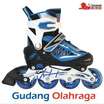 Pencarian Termurah Sepatu Roda ;Size L) Inline Skate COUGAR Blue Black harga penawaran -