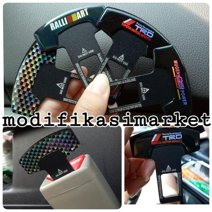 Colokan Seatbelt Carbon Belt Buzzer Carbon Stainless Kualitas Dijamin By Amaliastore.