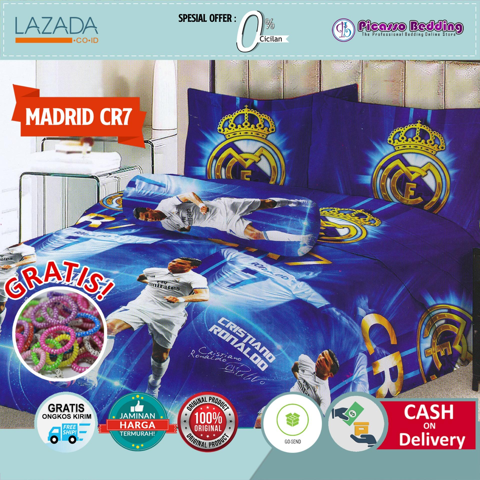 Buy Sell Cheapest Termurah Sprei Lady Best Quality Product Deals 120 Motif Real Madrid Rose 180x200