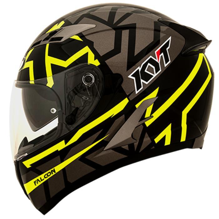 Helm KYT Vendetta Motif Faster Black Yellow Fullface