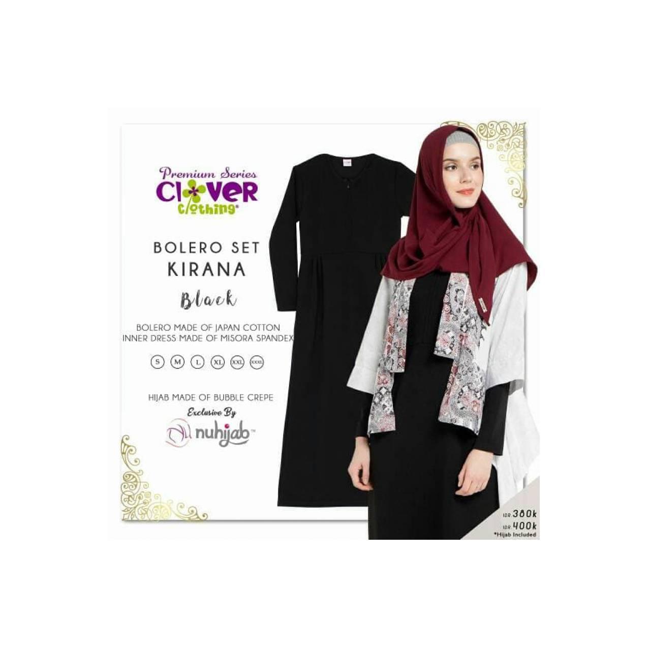 Gamis Dewasa Bolero Set KIRANA Batik by Clover Clothing Bahan Spandek