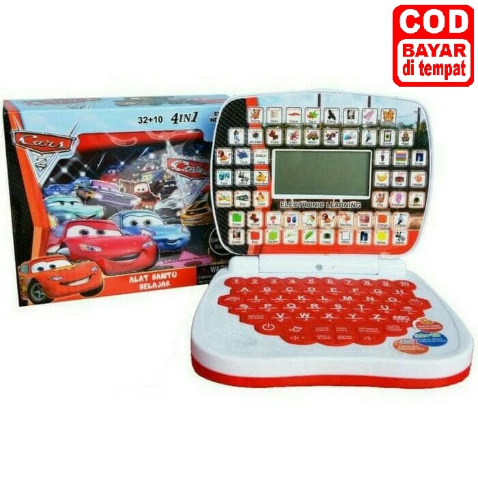 Mainan Laptop Mini dengan layar 4 bahasa