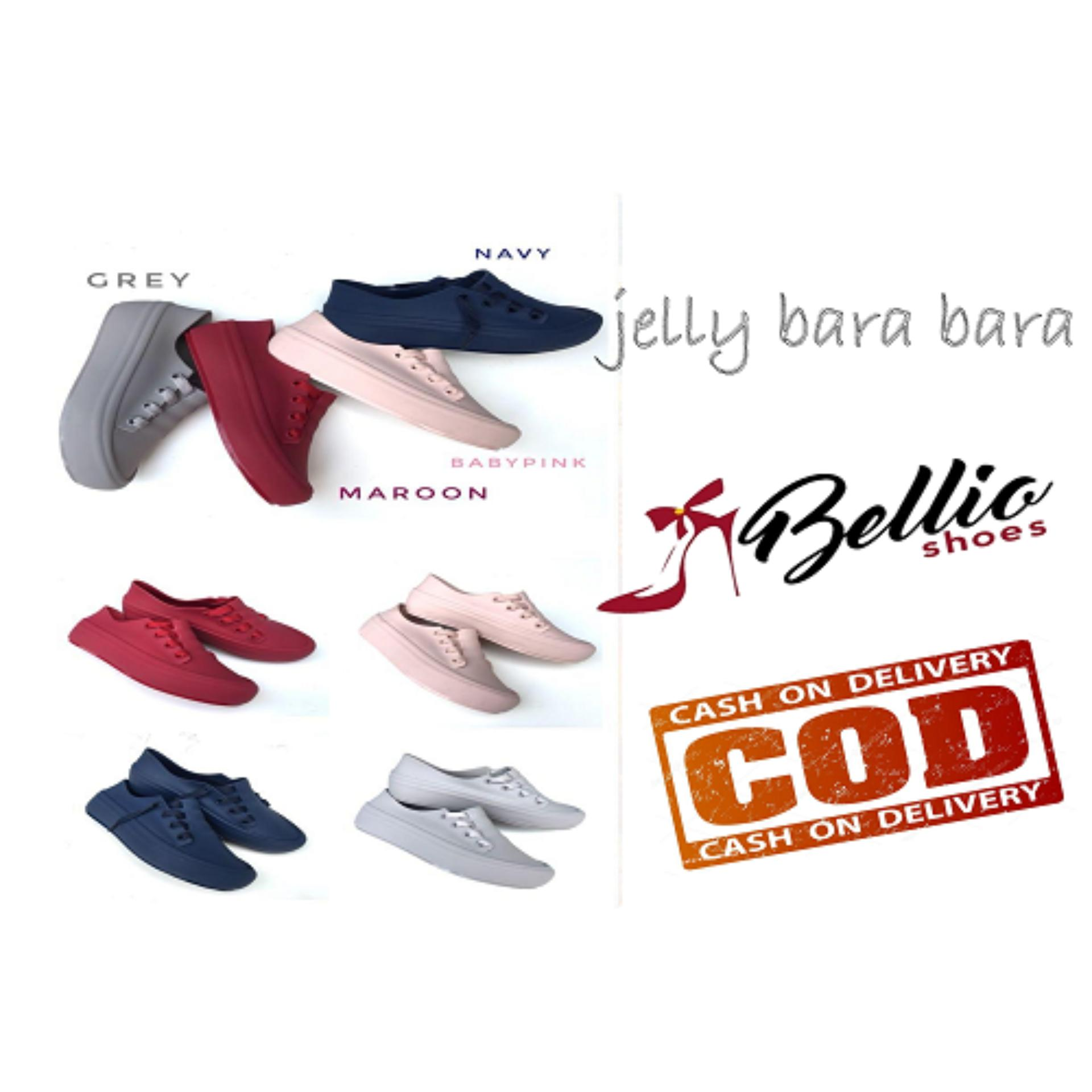 Flat Shoes Wanita Motif Gesper Aksen Love VIO70054. Source · Jelly Shoes - Sepatu Hak Tinggi Mule Wanita Dari Bara Bara Tinggi 3 .