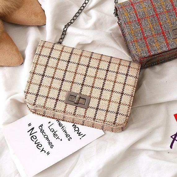 Kedaibutik 008 Tas Korea style Motif kotak / Tas Jelly Import / Jelly Bag / Tas