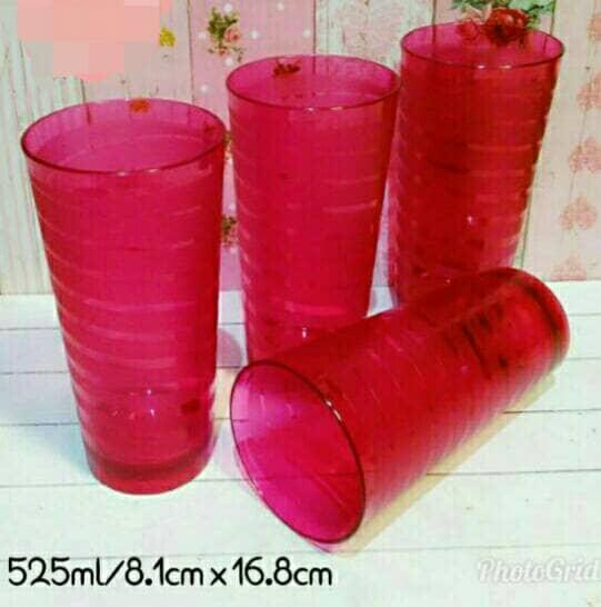1 buah Gelas cantik tupperware spiral glass activity