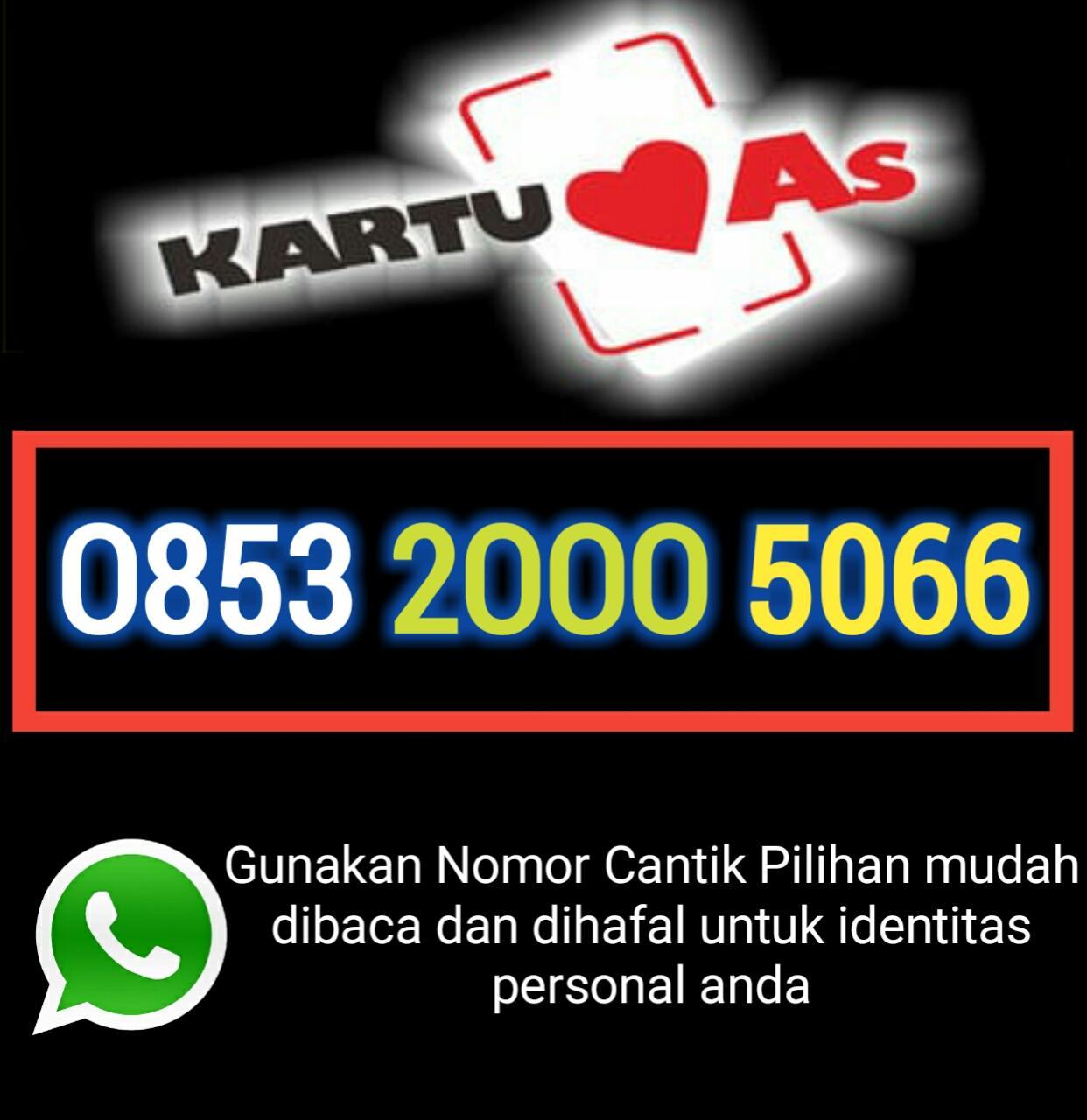 Nomor cantik Telkomsel 0853 2000 5066 kartu perdana as