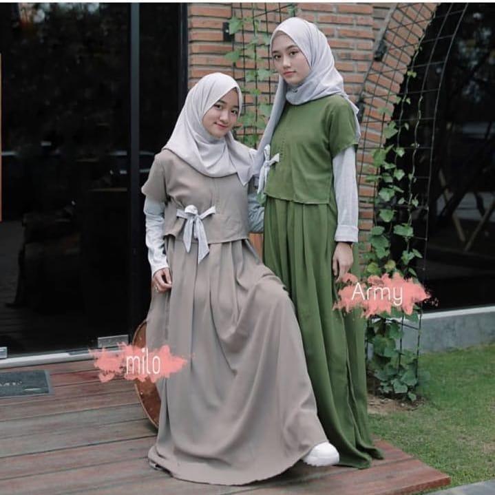 Baju Murah Terbaru Gamis Denada Dress Baju Baloteli Baju Terusan Wanita  Gamis Casual Baju Panjang Baju 9a6b9077bb