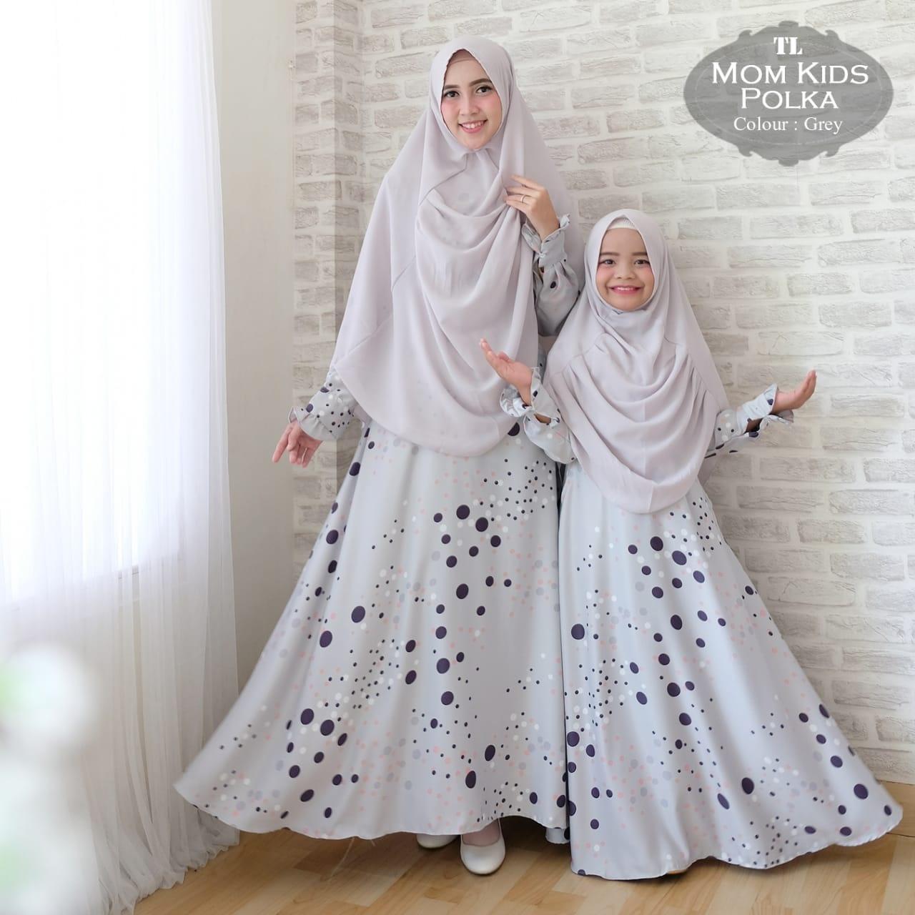 Silentriver88 gamis muslim syar'i maxmara lux polka ibu dan anak couple