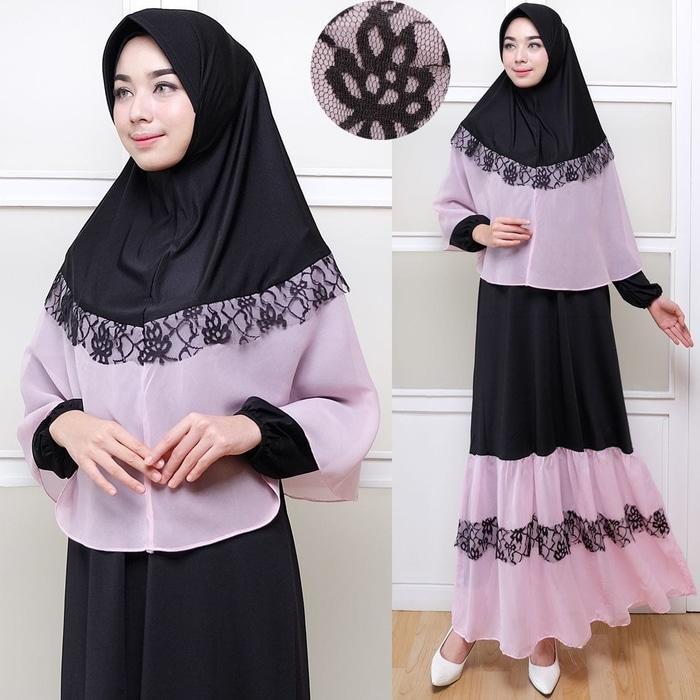 Kenzmal- Maxi Gamis Dress Baju Muslim Wanita Syifahada Premium Syari Ori