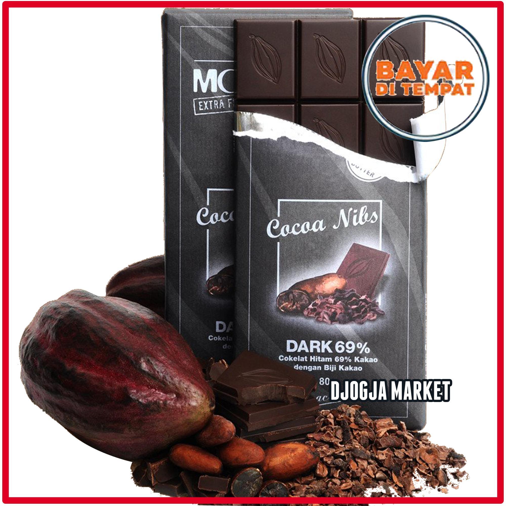 Djogja Market - Coklat Monggo Rasa Cocoa Nibs dengan remahan biji coklat di dalam