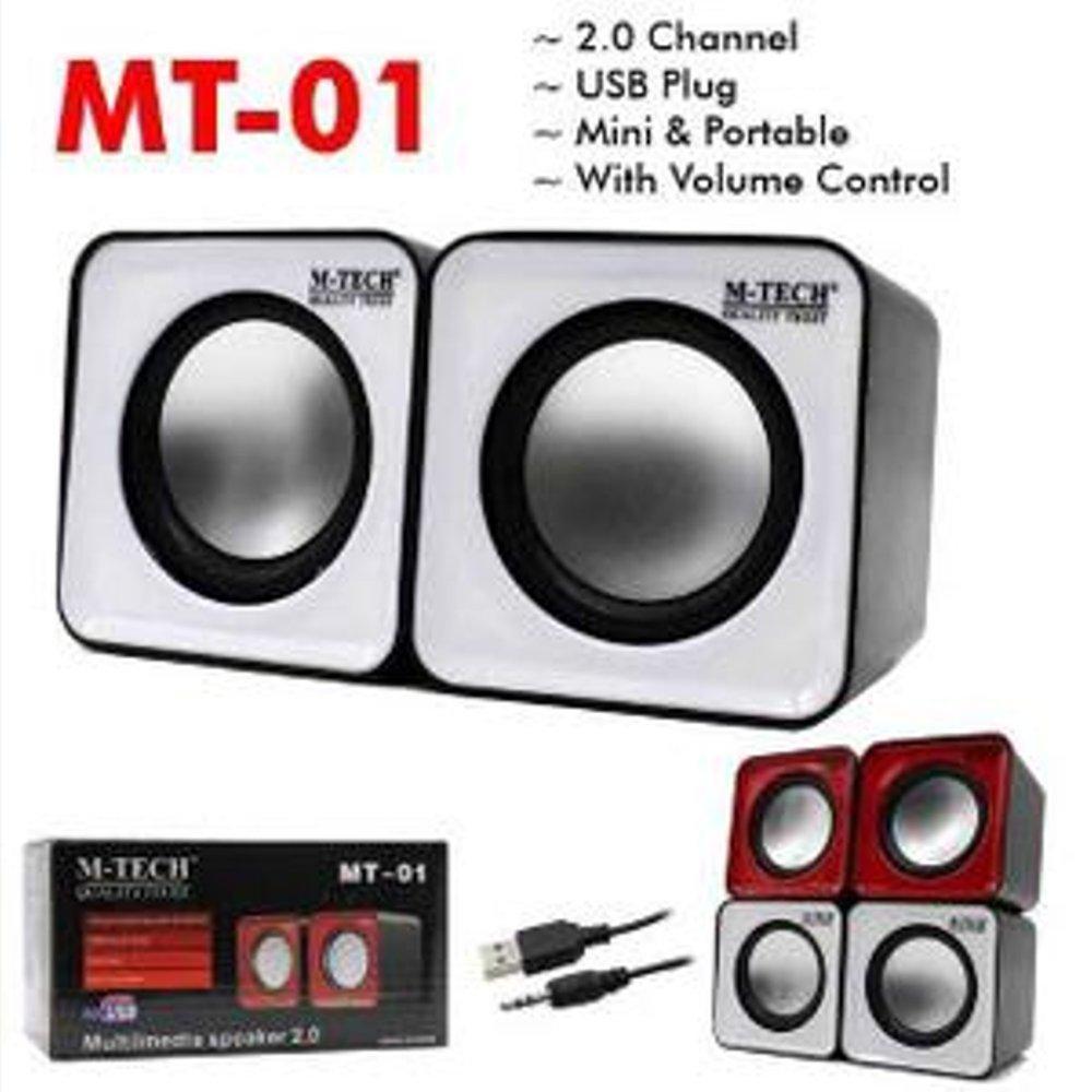 M-Tech MT-01 Multimedia Speaker Mini USB With Volume Control