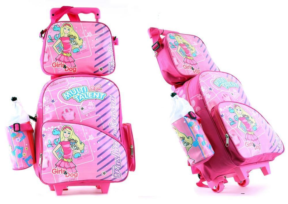 Promo tas trolley anak perempuan, tas roda anak cewek, tas roda tk, wenfai , GF 546 Fashion