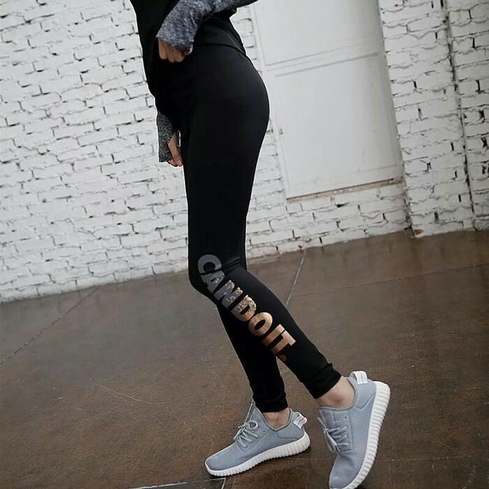 HARGA SPESIAL!!! Celana Legging Sport Panjang Senam Gym Yoga Fitness Can Do It - x4LxbQ