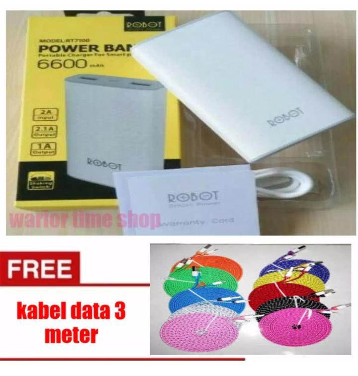 ... INDO WORLD TRADE Kabel Data Micro Kabel Charge Micro Gepeng 20cm Kabel Powerbank. Source · PowerBank RoboT 6600MAh Free kabel Data 3M