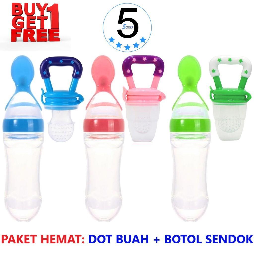 Botol Sendok Makan Bayi / Baby Feeder Bottle + FREE Dot Buah Bayi / Baby Fruit