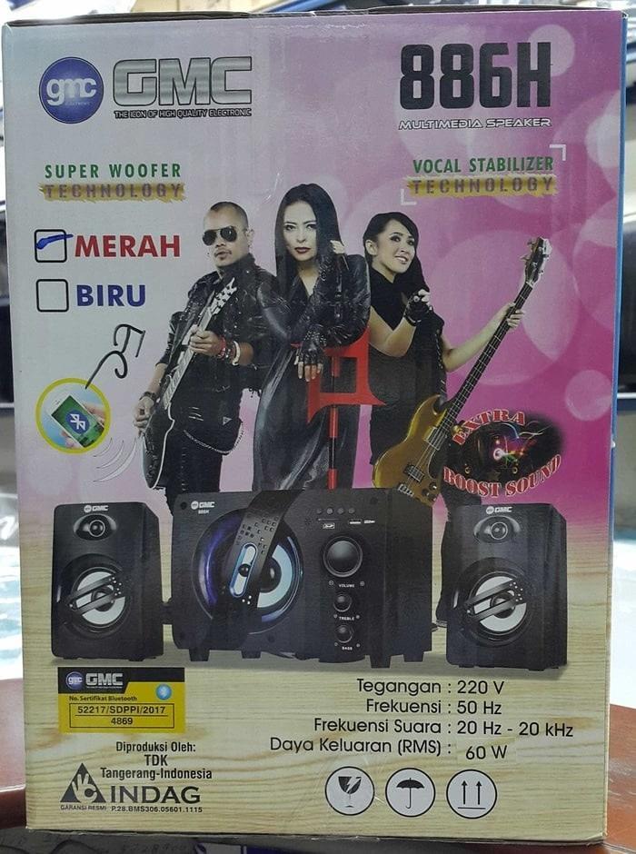 Referensi Speaker GMC 886H bluetooth mp3 Wireless /Speaker aktif GMC 886 H speaker aktif /