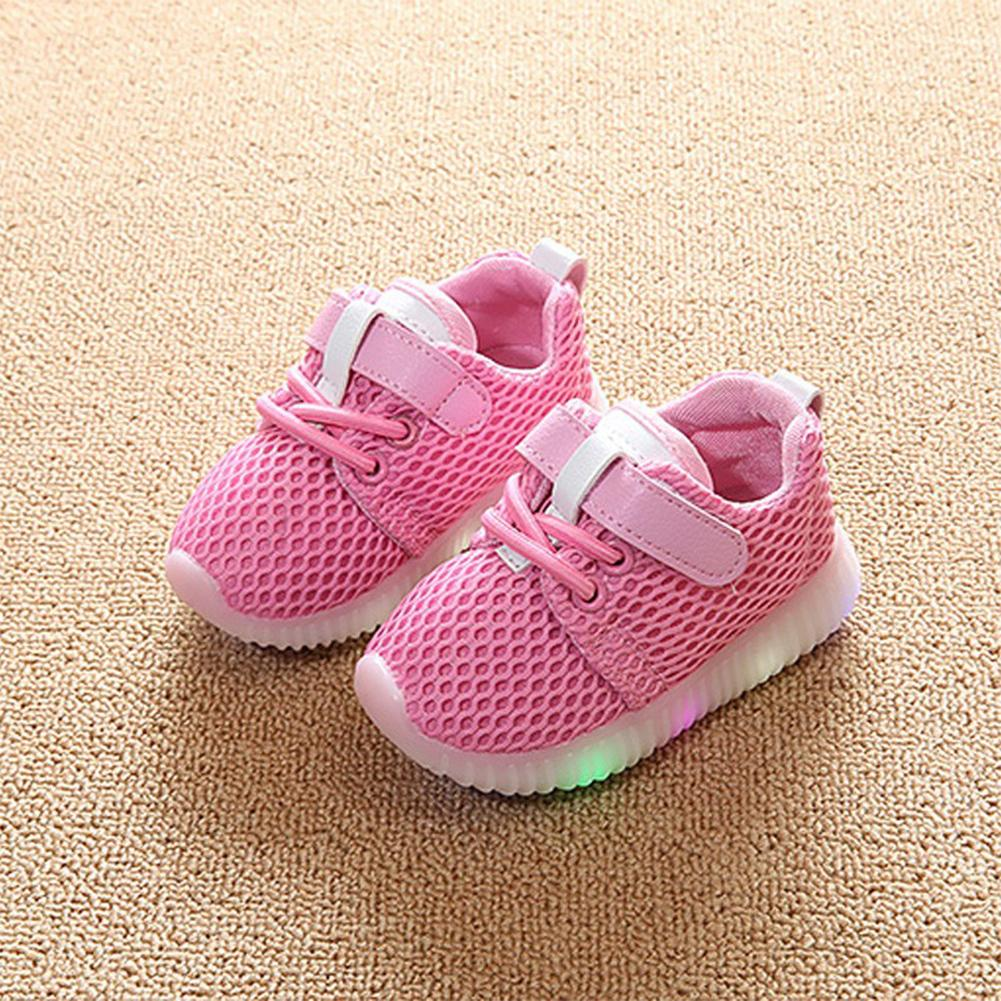 LED Luminous Baby Sports Shoes with Breathable Soft Boys Girls Sneakers Shoes