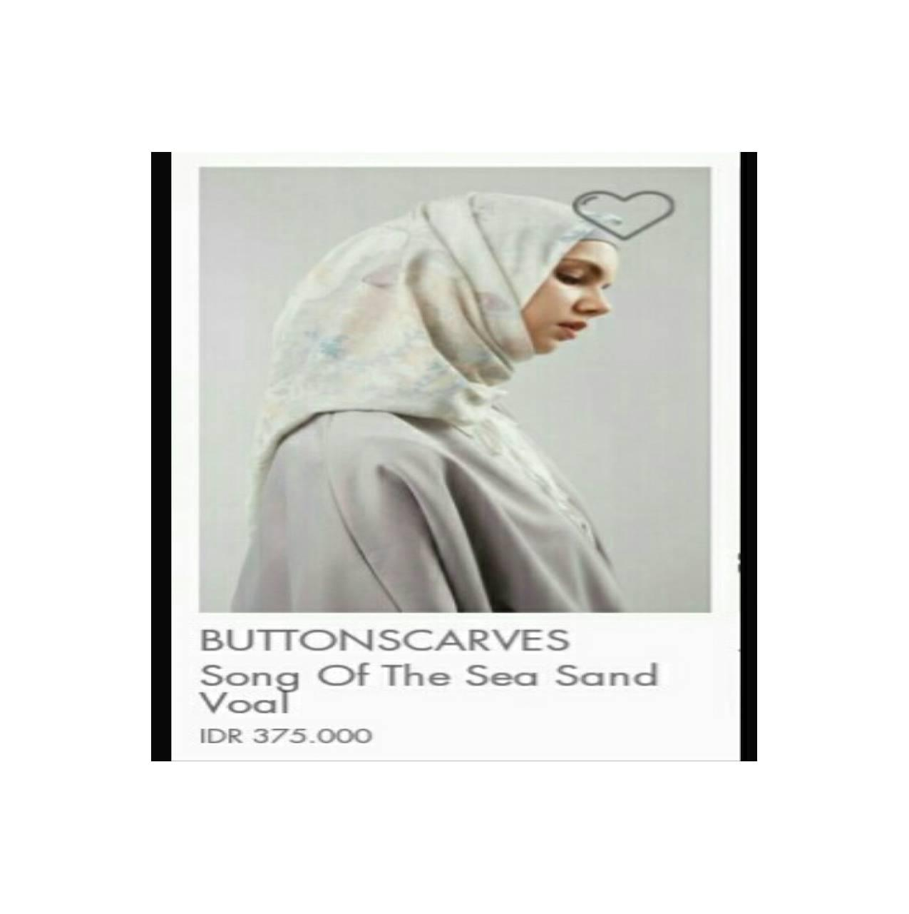 Hijabenka - song of the sea Voal by Buttonscarves