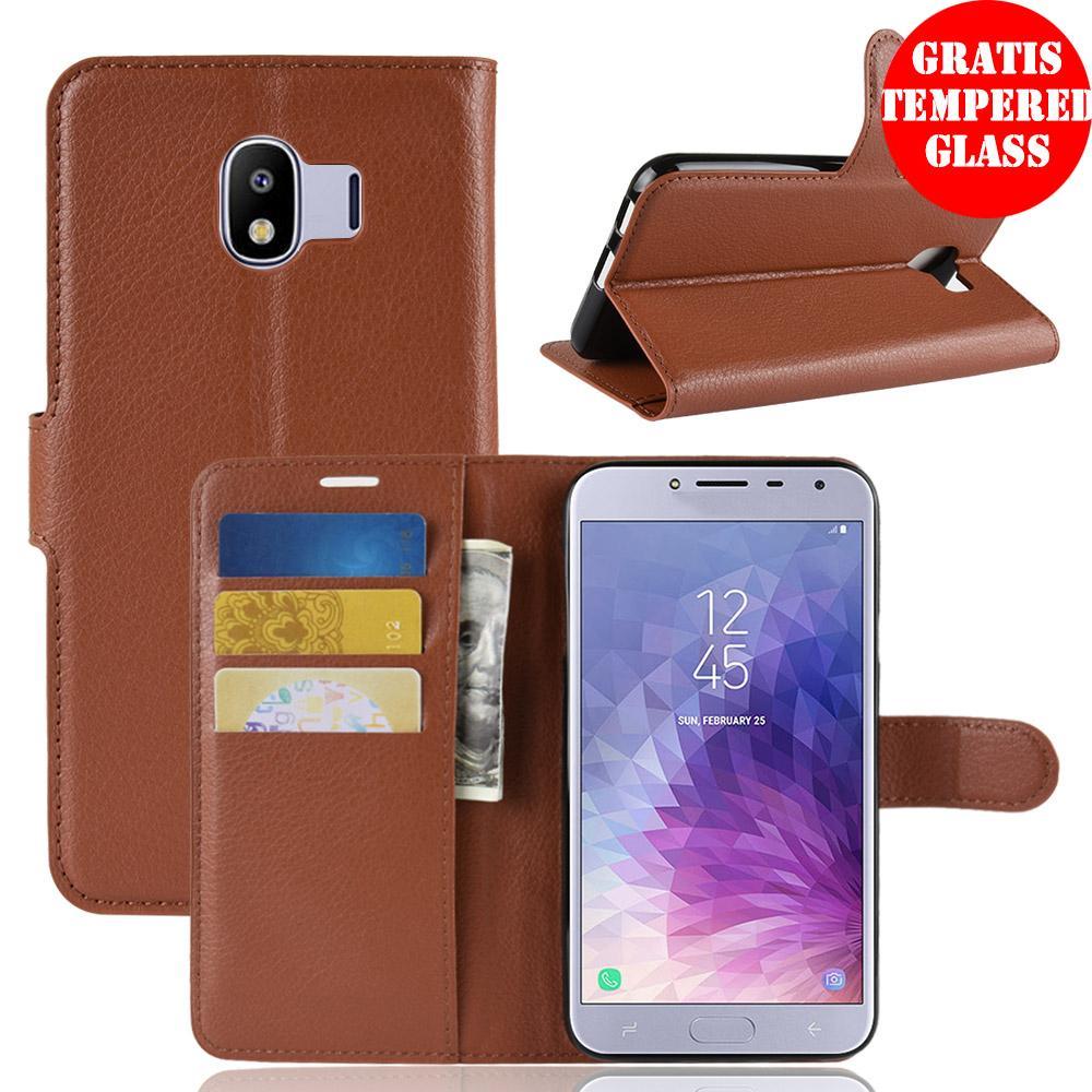 Weika Samsung J4 Dompet Kulit Leather PU Flip Case