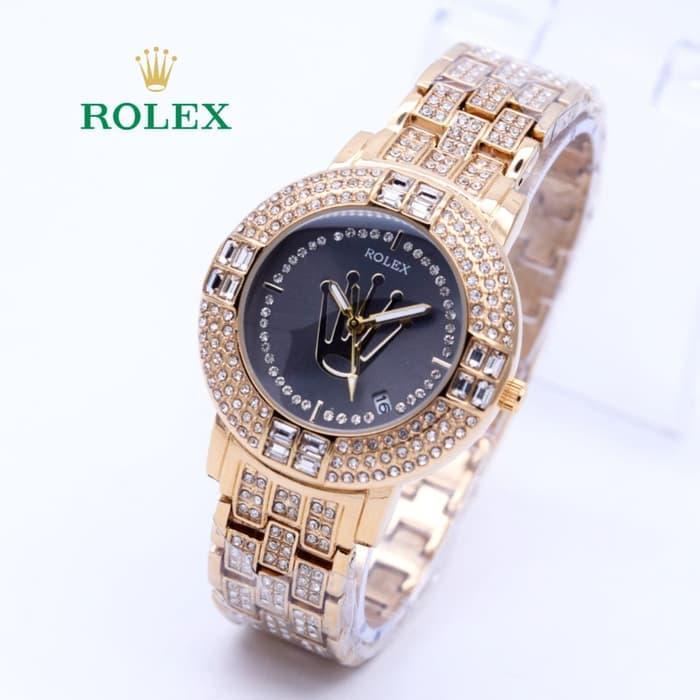 HOT PROMO  Jam Tangan Wanita Rolex Diamond Super Mewah ( Aigner Bonia Guess Rado)  /SALE