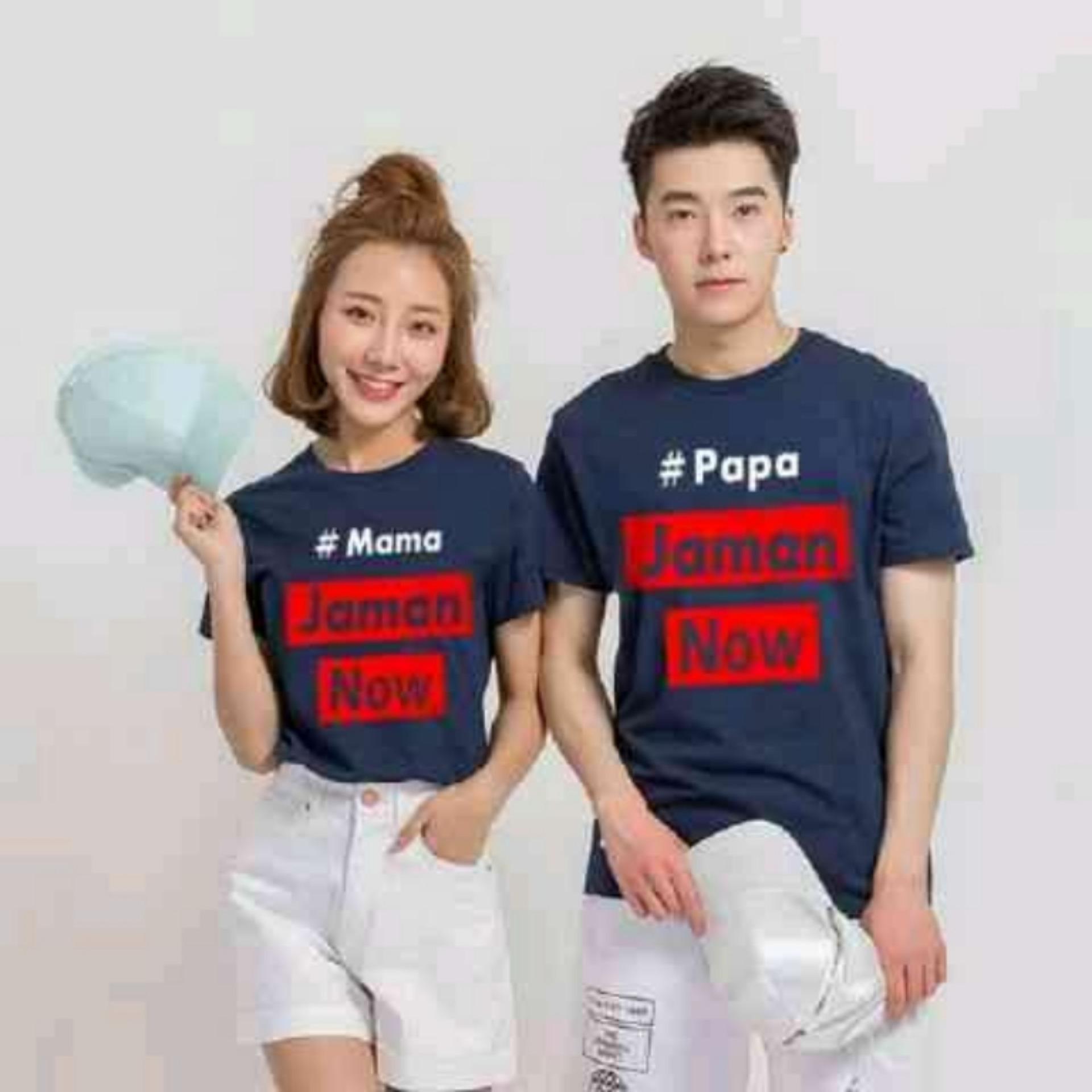Vrichel Collection Couple / T-Shirt / Kaos / T-Shirt Couple PAMA ZAMAN NOW