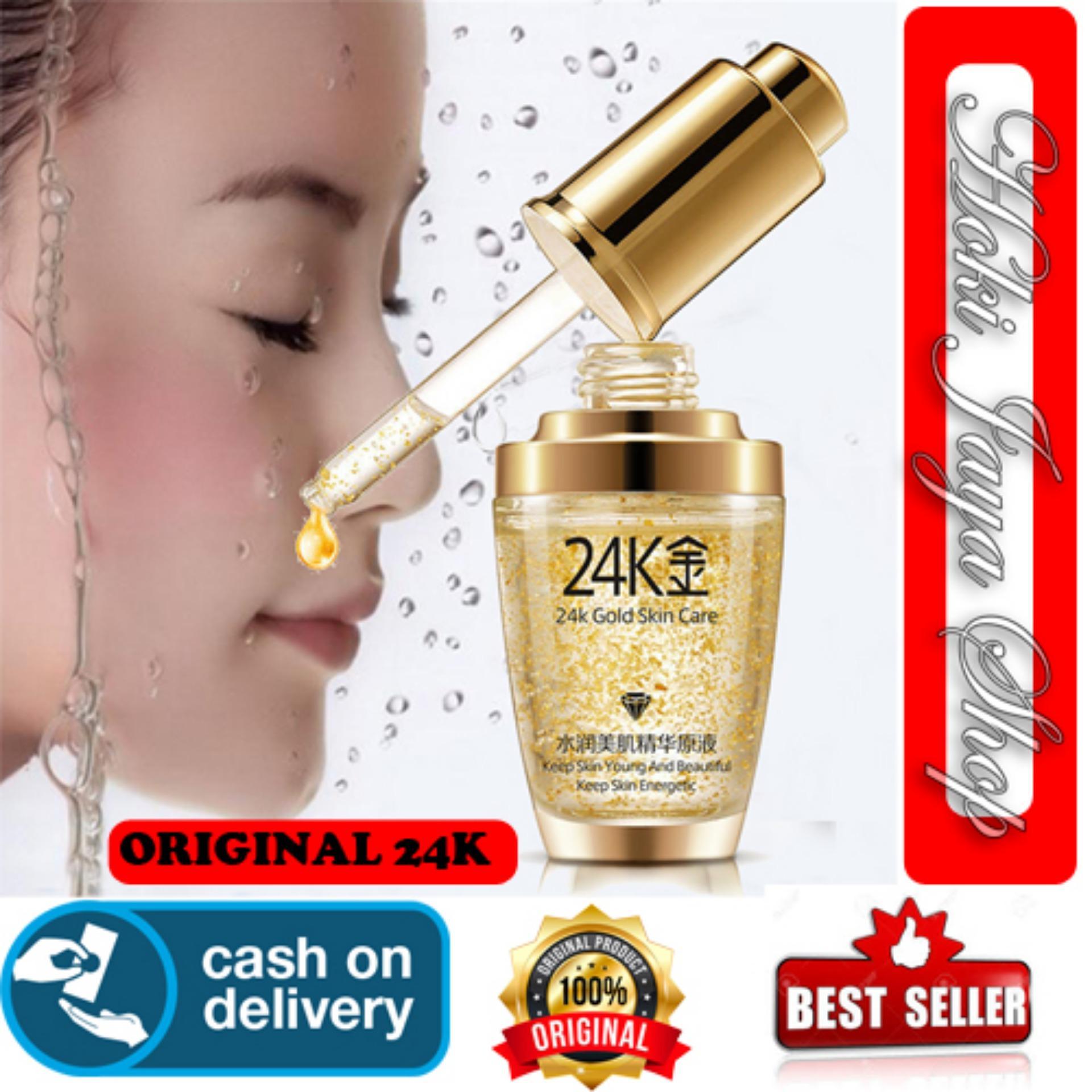 HOKI COD - Serum Wajah Emas 24K Bioaqua 24k Gold Bioaqua bb refill Cushion Skin Care Penghilang Kantung Mata dan Kerutan Wajah
