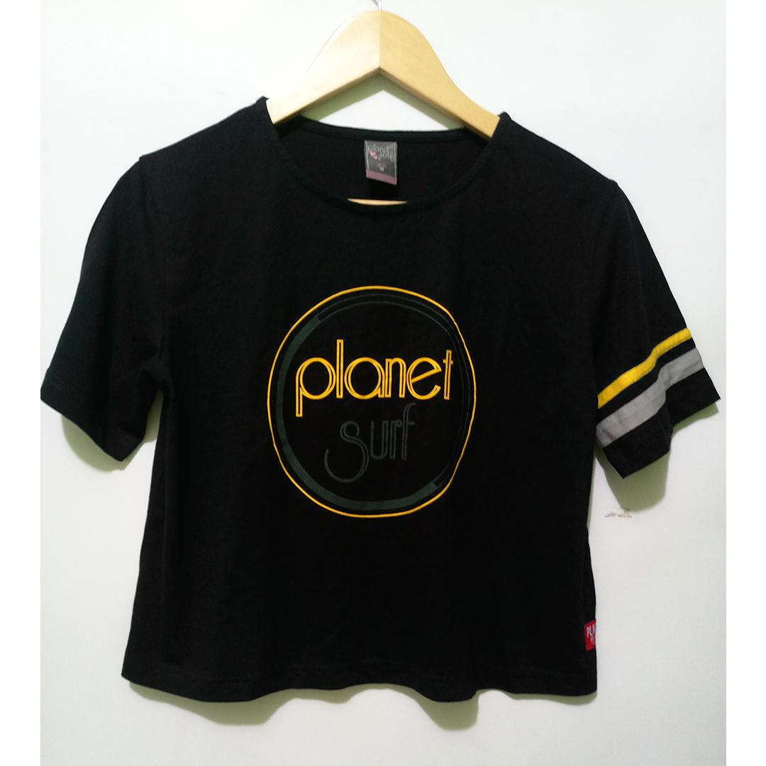 Kaos wanita planet Surf retro model original