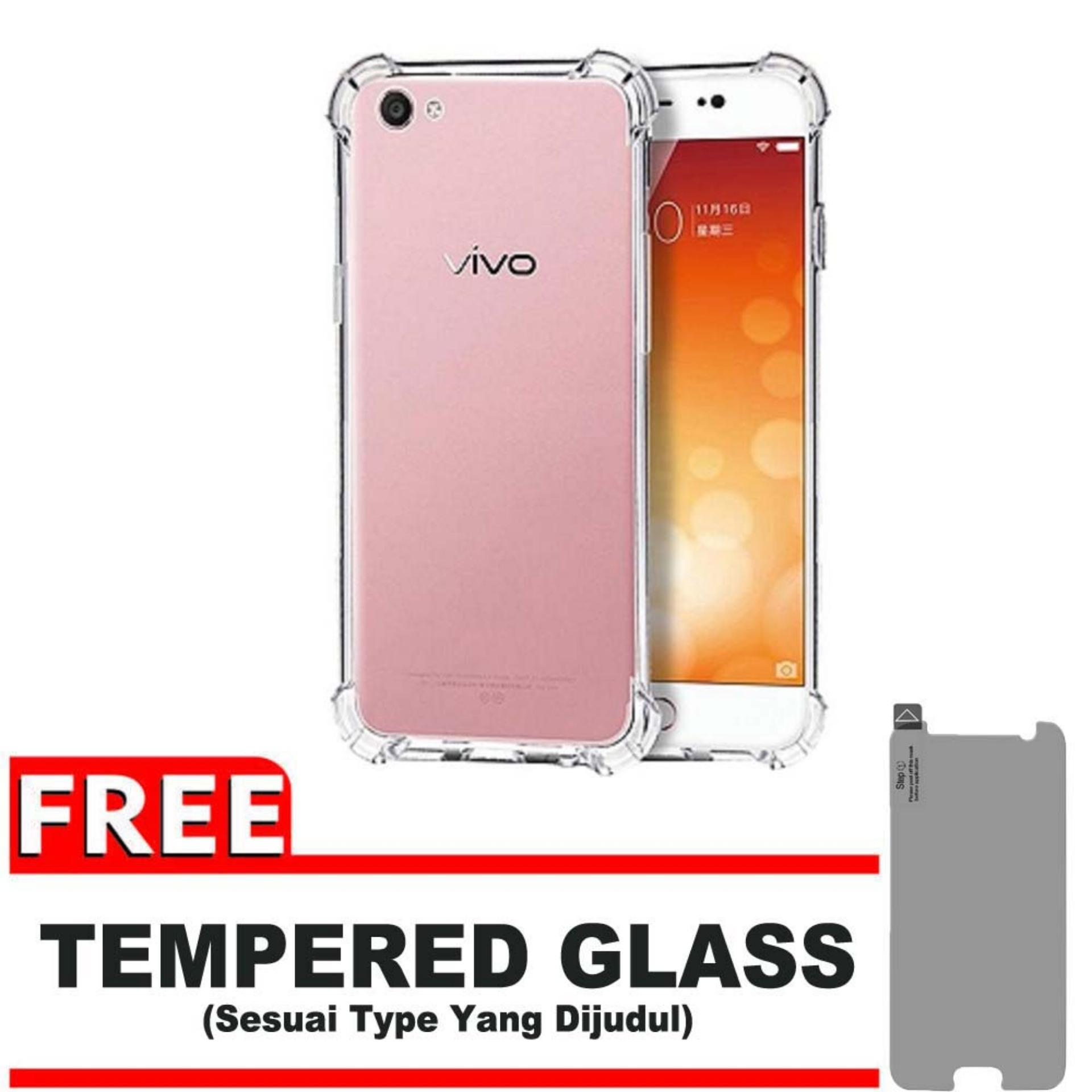 Rp 19.900 ShockCase for Vivo Y55 / Y55A / Y55L / Y55S | Premium Softcase Jelly Anti Crack Shockproof - Gratis Free Tempered Glass ...