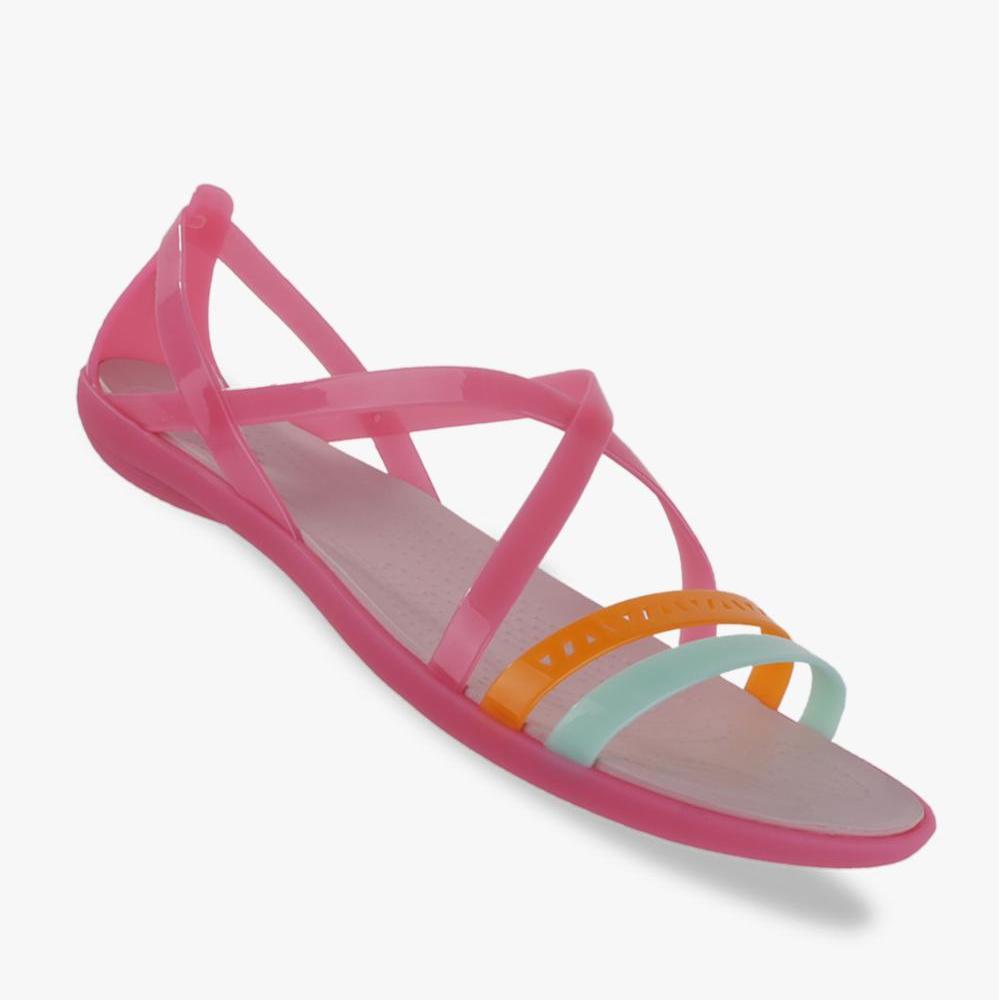 Crocs Isabella Cut-Out Strappy Sandal Wanitas - Pink
