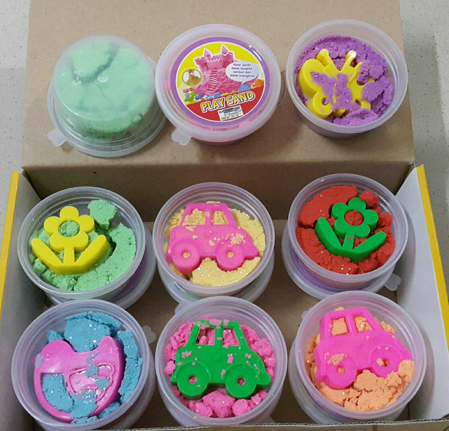 Jual Pasir Kinetik Murah Garansi Dan Berkualitas Id Store Refil  Isi 3 Toples Rp 14800 Yangunik Mainan Anak