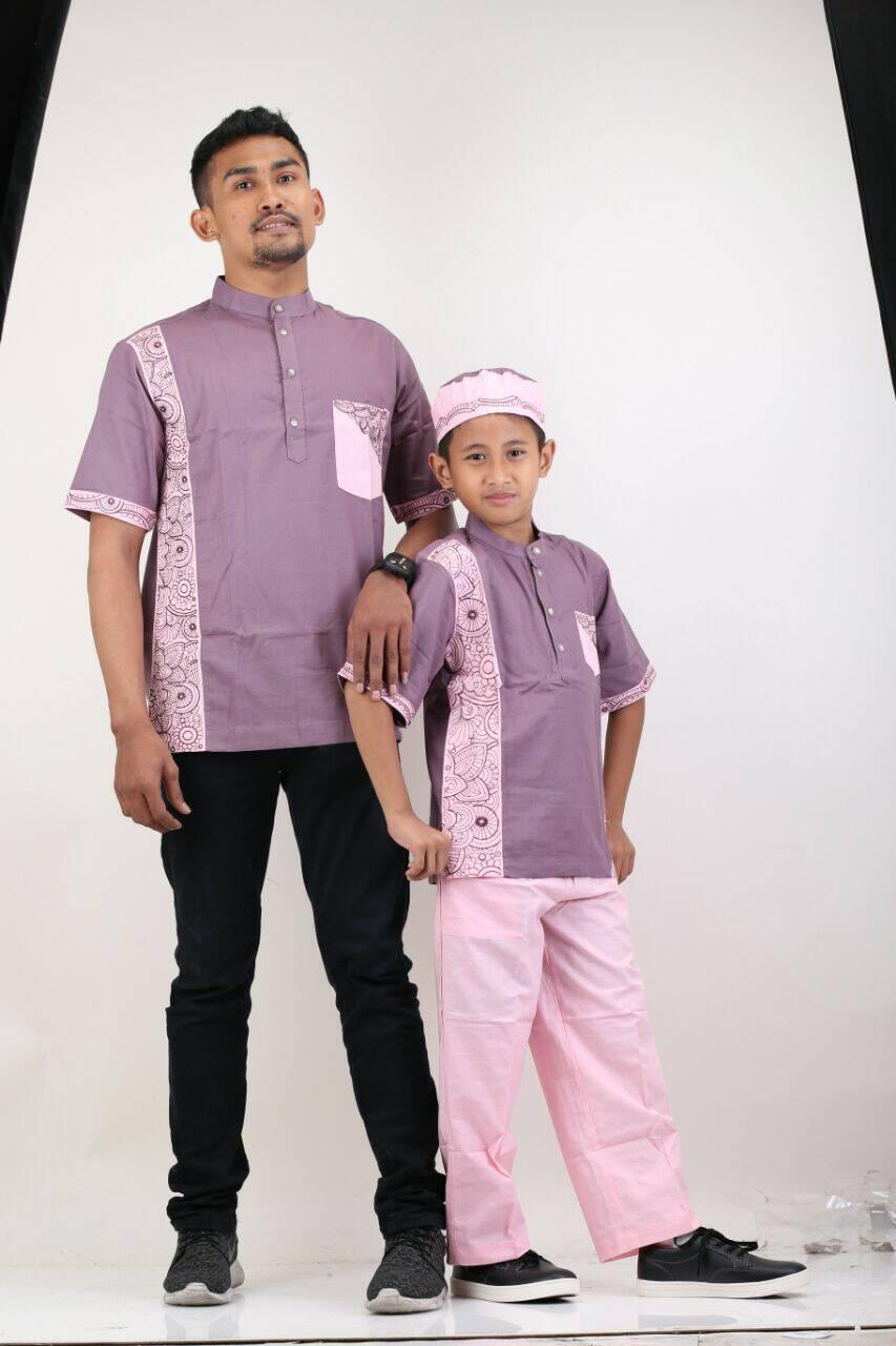 kemeja koko baju muslim pria anak ayah bigsize jumbo couple bayi peci
