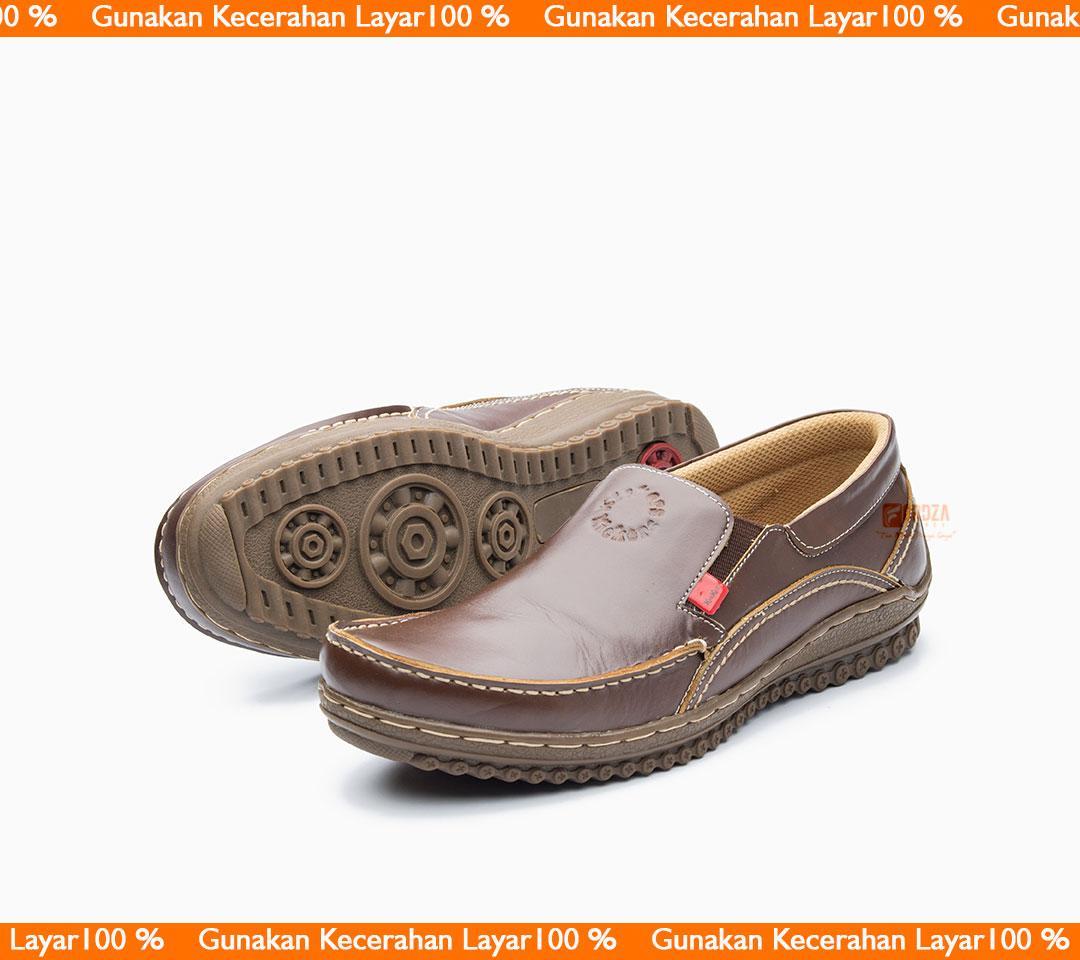 Sepatu Casual Pria Slip On Kulit Asli Outsole Karet Anti Slip Limited Model Santai Dan Formal Bukan Kickers 994CK