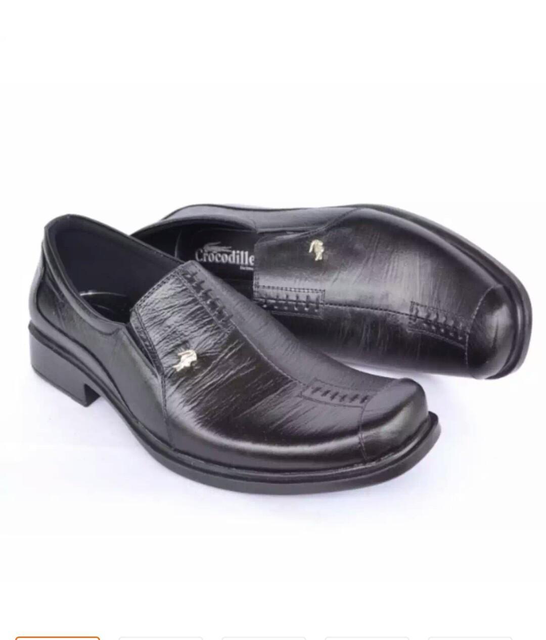 Sepatu Kulit Crocodile Hitam Hand made Indonesia A8 HT