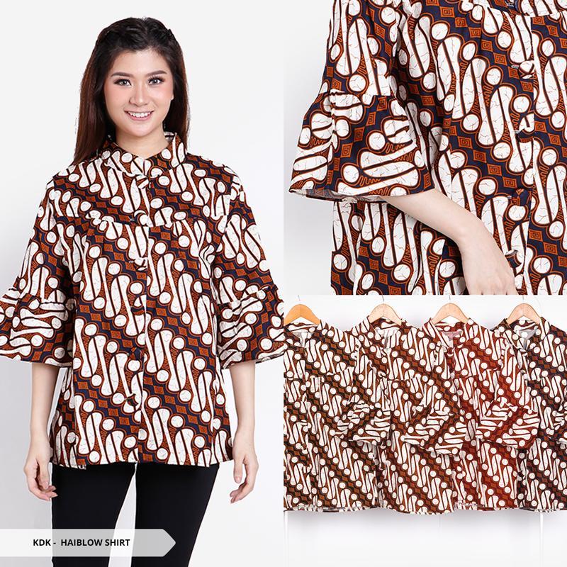 168 Collection Atasan Blouse Yurike Kemeja Batik-Biru. Source · Rp 39.000