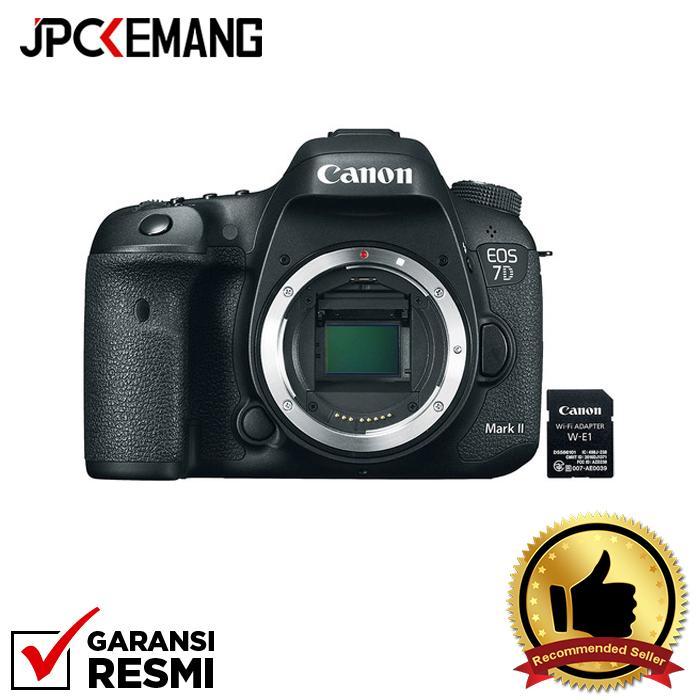Canon Eos 7d Mark Ii Body + W-E1 Wifi Jpckemang Garansi Resmi By Jpc Kemang.