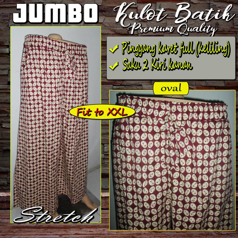 Celana Kulot Batik Jumbo - Katun Stretch High Quality - Oval