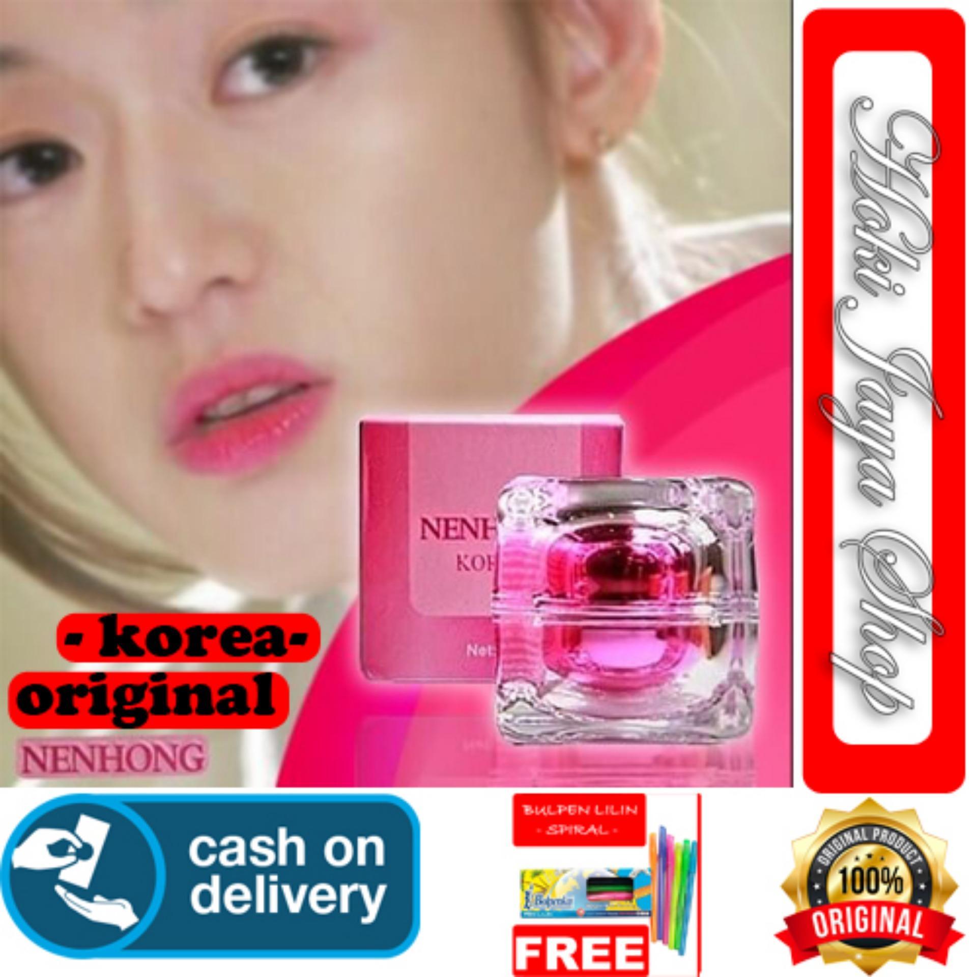 HOKI COD - Nenhong Lip Gloss Pemerah Bibir & Nipple Pink Alami - Nen Hong - 30g - Kailijumei + Gratis Pulpen Lilin Unik Serba Guna Hitam Pekat - 1 Pcs