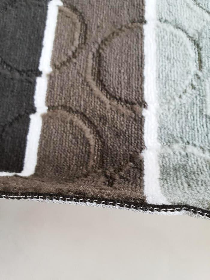 Keset Cendol Dof BIRU 40 x 60 cm karpet bulu / doormat chenille blue. Rp60