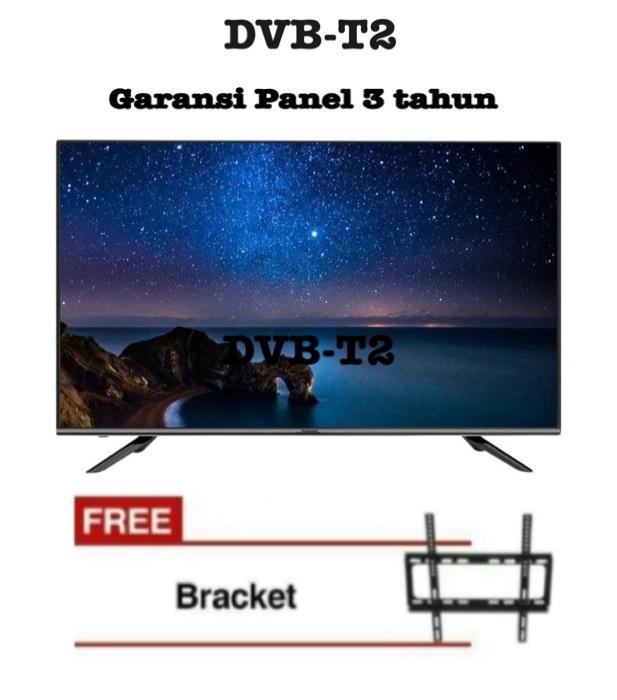 Changhong LED50E6000HFT (50 INCH/FHD/DVB-T2) digital 50 Inch + Bonus Bracket Dinding